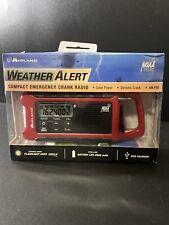 Midland Weather Alert Compact Emergency Crank Radio Solar Power AM FM