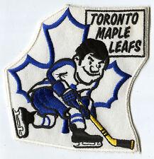 "1970'S TORONTO MAPLE LEAFS NHL HOCKEY 6"" CARTOON PATCH"