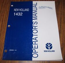 New Holland 1432 Discbine Mower Conditioner Operators Owners Manual Issued 1999