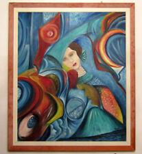 """MARIA MURGIA - """"Il sole e la luna"""" - Olio su tela  cm 120x100   + CORNICE"""