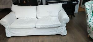 IKEA ektorp sofa bed white good condition including cover