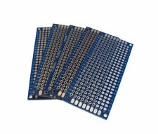 """3x7CM Double Side Prototype Board Perforated Through Hole 0.1"""" Blue - Pack of 5"""