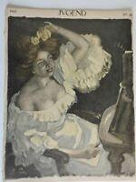 Woman Yellow Roses Jugend Magazine 1902 Issue 49 Jugenstil Art Nouveau graphics