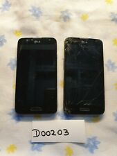 Lot of 2 Lg D321 Optimus L70 phones for parts, repair or gold recovery