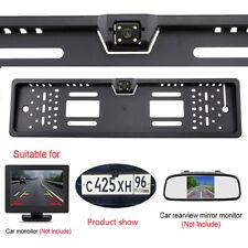 170° EU Car License Plate Rearview Reverse Backup Camera Parking Night Vision HD