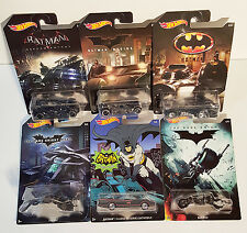 BATMAN 2015 Hot Wheels 6 Vehicle set BATMOBILE's, Bat Pod, The Bat, all New