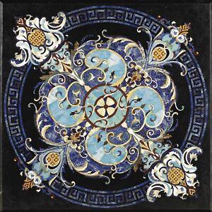 "48"" Marble center Table Top Pietra Dura marquetry handicraft art Inlay Work"