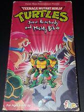Vintage 1990 Teenage Mutant Ninja Turtles VHS - Super Rocksteady & Mighty Bebop