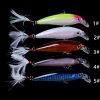 """Strong Hook Fishing Lures Crankbait Bass Peche Minnow Hard Fishing Tackle 4.33"""""""