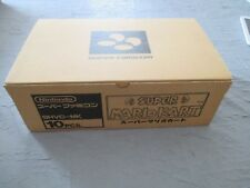 >> SUPER MARIO KART NINTENDO SFC SUPER FAMICOM NEW FACTORY CASE OF 10! <<