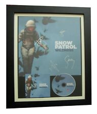 SNOW PATROL+SIGNED+FRAMED+WILDNESS+ALL LOVE+CARS=100% AUTHENTIC+FAST GLOBAL SHIP