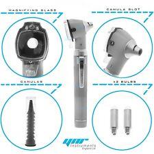 YNR Grey Mini Otoscope Pocket Fiber Optic Medical Diagnostic NHS GP CE Approved