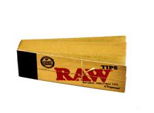 Filter Tips Natural Rolling Paper Raw Original Smoking Tobacco 50 Tip Book