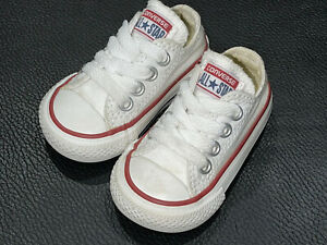 Converse Chuck Taylor All Star Baby Shoes Sneakers White Low Top White Size 2