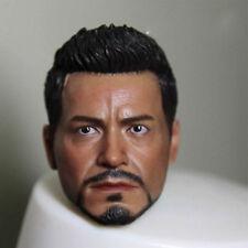 "Custom 1/6 Scale Head Sculpt Iron Man Tony Stark For 12""  Hot Toys Male"