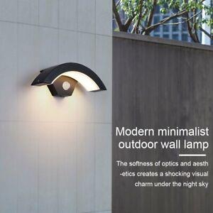 18W Waterproof LED Wall Lights PIR Motion Sensor Modern Outdoor Garden Lamp