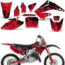 Graphic Kit Honda CR125 CR250 Dirt Bike Decal Backgrounds Sticker 02-03 ICE RED