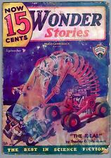 ORIGINAL UNREAD Sept 1935 'NOW 15 CENTS WONDER STORIES' Sci-Fi GERNSBACK Pulp