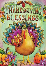 "Thanksgiving Blessings Turkey Garden Flag Holiday Briarwood Lane 12.5"" x 18"""