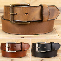 Scalloped Tab Oil Tanned Leather Work Belt - Amish Handmade by Yoder Leather