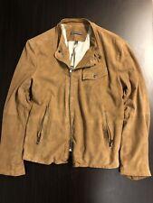 john varvatos mens Size 48 leather jacket $1898.00 Retail Price