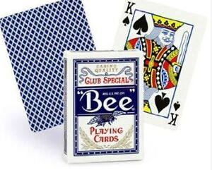 BEE PLAYING CARDS CLUB SPECIAL No.92 REGULAR INDEX BLUE NEW SEALED. U.S.P.C.C