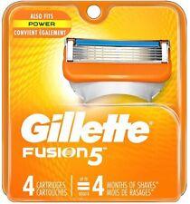 Gillette Fusion 5 Razor Refill 4 Cartridges Fits All Fusion 5 Handles