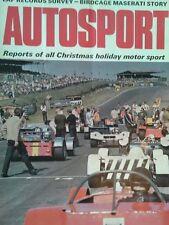 AUTOSPORT DICEMBRE 31st 1970 * MASERATI BIRDCAGE STORIA *