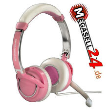 Pink Gaming Headset Pink For Ladies & Girl Headphones Jack Gamer PC 1A