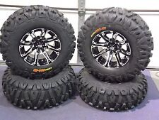 "KAWASAKI BRUTE FORCE 25"" BOUNTY HUNTER 8 PLY HD RADIAL ATV TIRE & WHEEL KIT SS3"