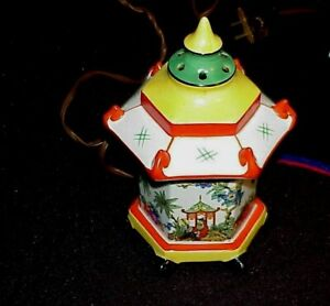 Antique Germany ? ND Neutettal Pagoda Perfume Scent Lamp Orig Cord Vtg