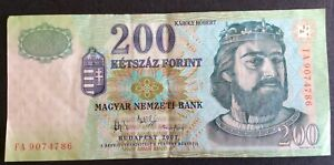 **** Hungary 200 Forint Banknote ****