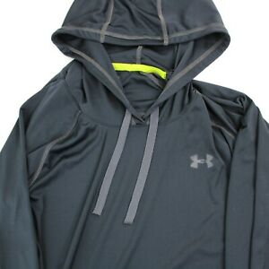 Under Armour Green Womens LS Hooded Pullover Size XS Semi-Fitted Black Eco Safe