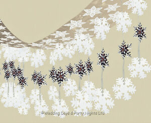 10ft Frozen Snowflakes Hanging Ceiling Decorations Xmas Party Winter Wonderland