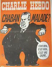 CHARLIE HEBDO No 178 AVRIL 1974 CABU CHABAN  MALADE ?