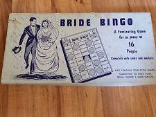 Vintage Bride Bingo Bridal Shower Party Games