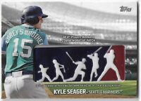 2018 TOPPS KYLE SEAGER COMMEMORATIVE PLAYERS WEEKEND LOGO PATCH #PWP-KS MARINERS