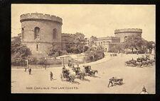 Cumbria CARLISLE street scene outside The Law Courts 1912 PPC