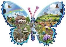 SUNSOUT SHAPED JIGSAW PUZZLE ENGLISH MEADOW LORI SCHORY 1000 PCS ANIMALS #95867