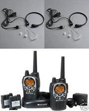 2 WALKIE TALKIES MIDLAND GXT1000 + 2 LARINGOFONO VOX VIBRACION LLAMADA PRIVADA