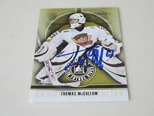 THOMAS McCOLLUM AUTOGRAPHED 2009 IN THE GAME BETWEEN THE PIPES FUTURE STARS CARD