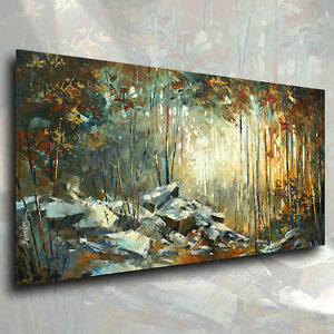 Art Scene Modern CONTEMPORARY Giclee Canvas Print a Mix Lang Landscape Painting