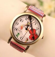 Women Classic Ethnic Coloured Bracelet Watch Leather Analog Quartz Fashion