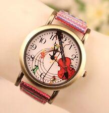 Reloj de pulsera mujeres color étnico clásico de cuarzo analógico de Cuero Moda