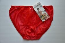 Nwt! Vtg 80s Sexy Red 100% Nylon Lace Front Hi Cut Dbl Gusset Bikini Panties! 6