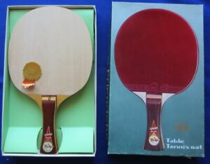 "VINTAGE FRIENDSHIP ORIGINAL-5 SHAKEHAND NO: ""D"" TABLE TENNIS RACKET BLADE MIB"