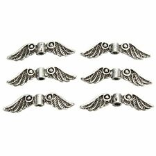 Jewelry Charm Spacer Beads Antique Silver Tone and Making Craft Angel Fairy Wing