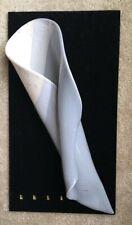 "HILBORN Wall Pocket Vase Art Pottery 14 1/2"" Long Shades Of Gray Signed"