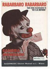 Spartito SANDRA MONDAINI Rabarbaro Rabarbaro SBIRULINO 1978 Songbook Sheet music