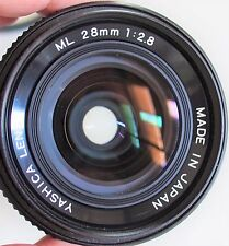 Yashica / Contax ML 28mm f/2.8 mount with Filter made in Japan - EXCELLENT ++